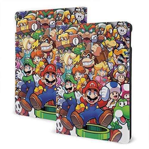 The Legend of Zelda Superhero Super Mario Smash Bros - Funda de piel con función atril y función atril para tablet iPad 7 de 10,2 pulgadas