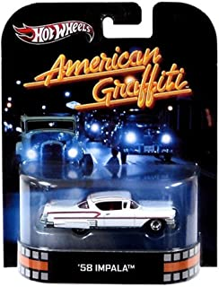 Hot Wheels Retro American Graffiti 1:55 Die Cast Car '58 Impala