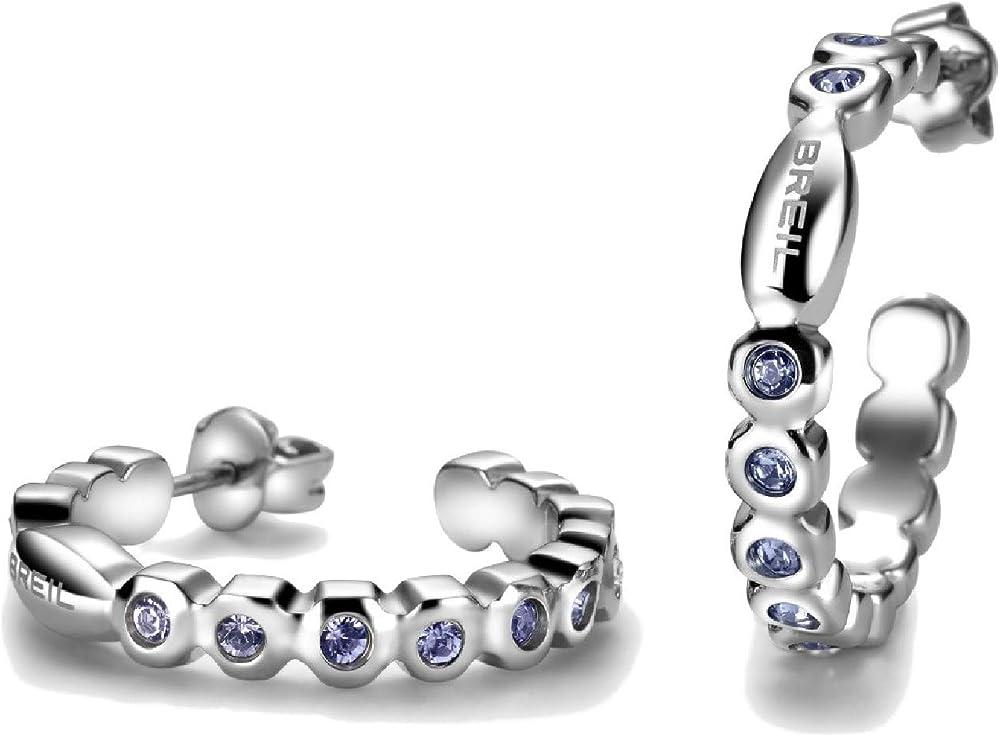 Breil orecchini donna collezione rolling diamonds con pietre multiple in crystal jewellery TJ1572_TANZ