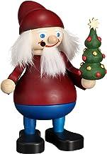 Seiffener Volkskunst German Incense Smoker Christmas Brownie with Tree, Height 15 cm / 6 inch, Original Erzgebirge by Seif...