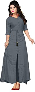 Shree kuldevi Creation Women's Silk Semi Stitched Gown