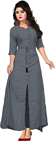 Shree kuldevi Creation Women s Silk Semi Stitched Gown