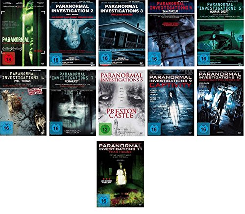 Paranormal Investigations 1-11 DVD Set, deutsch, 1,2,3,4,5,6,7,8,9,10,11 uncut, I-X, inkl. Fear House