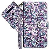 MRSTER LG Q60 Handytasche, Leder Schutzhülle Brieftasche Hülle Flip Hülle 3D Muster Cover mit Kartenfach Magnet Tasche Handyhüllen für LG Q60 / LG K50. YX 3D - Peacock Flower