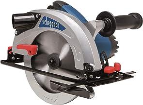 Scheppach CS1300 - Sierra circular eléctrica de mano (1300 W, 5000 rpm, profundidad de corte de 190 mm, incluye tope paralelo, llave Allen, mango y disco TCT)