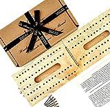 Jaques Tablero de Cribbage Plegable de Madera Dura Londres - Completo con pasadores