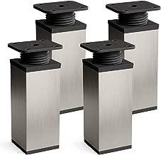 4 piezas Patas para mueblesExklusiv Altura 60mm Dise/ño: Aluminium Tornillos incluidos Perfil cuadrado: 45 x 45 mm Sossai E4MF-N