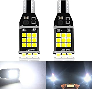 CIIHON Upgraded 912 921 LED Light Bulbs, Ultra Bright 12-24V 1800LM 3030 SMD T15 LED Lights,  Error Free CANBUS Bulbs Replacement for Back Up Reserve Lights, 6000K Xenon White
