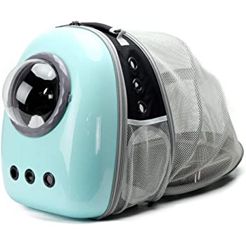 Expandable Cat Carrier Backpack for Cats, Space Capsule Bubble Pet Travel Carrier for Small Dog, Pet Hiking Traveling Backpack