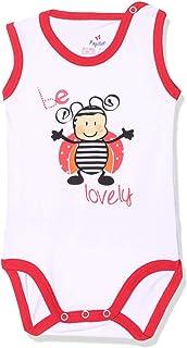 Papillon Bee Print Snap Closures Contrast Trims Sleeveless Crew Neck Kids Romper, 9 Months