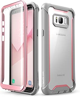 i-Blason Ares Designed for Galaxy S8 Case, Full-body Rugged Clear Bumper Case With Built-in Screen Protector for Samsung Galaxy S8 2017 Release (Pink)