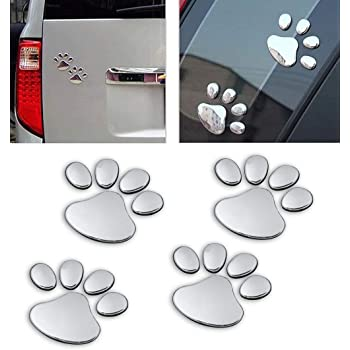 Magnet Me Up Woof Pawprint Car Magnet Paw Print Auto Truck Decal Magnet P-7