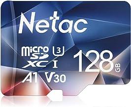 Netac 128G Scheda Micro SD, Scheda di Memoria A1, U3, C10, V30, 4K, 667X, UHS-I velocità Fino a 100/30 MB/Sec(R/W) Micro SD Card per Telefono, Videocamera, Switch, Gopro, Tablet