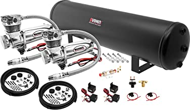 Vixen Air Suspension Kit for Truck/Car Bag/Air Ride/Spring. On Board System- Dual 200psi Compressor, 5 Gallon Tank. for Boat Lift,Towing,Lowering,Load Leveling,Bags,Onboard Train Horn VXO4852DC
