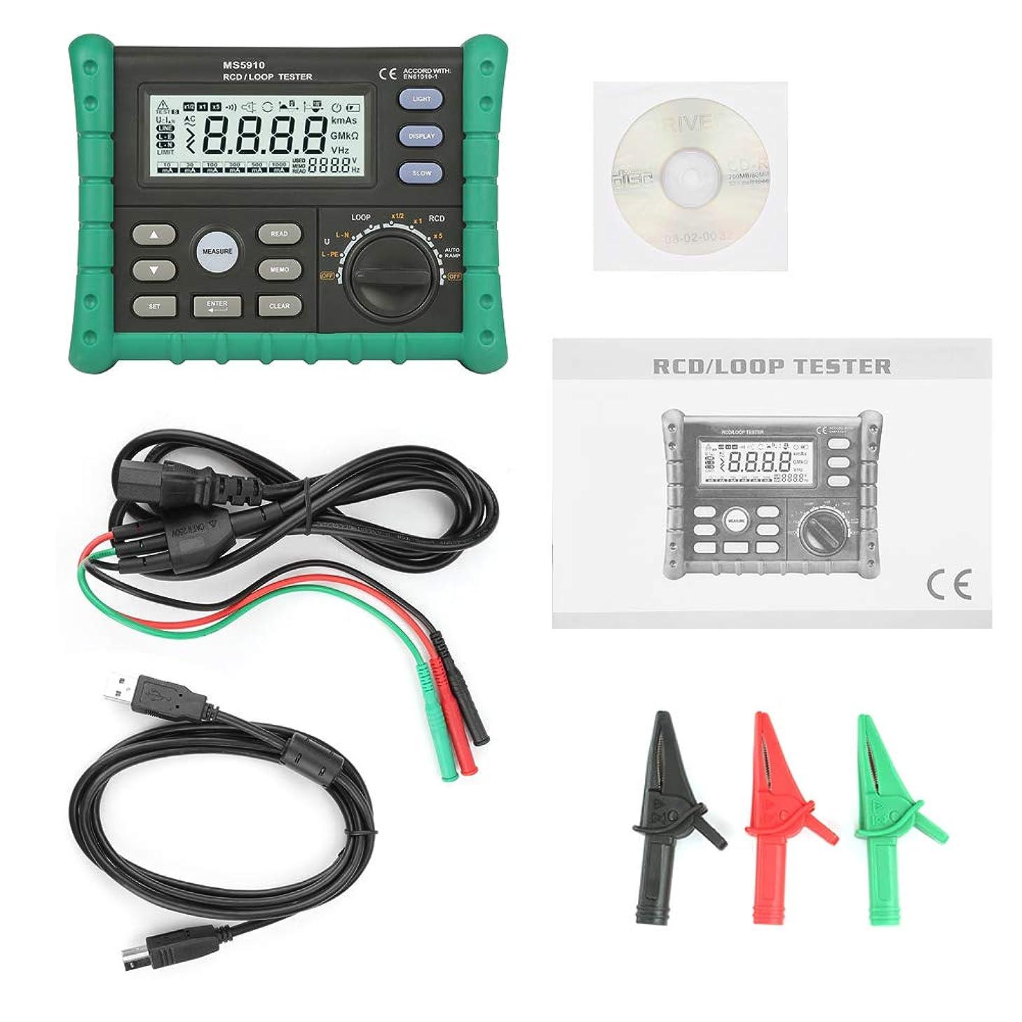 サスペンション討論実質的にMS5910 RCDループ抵抗テスター回路トリップアウト電流時間検出器、USBインターフェース付き