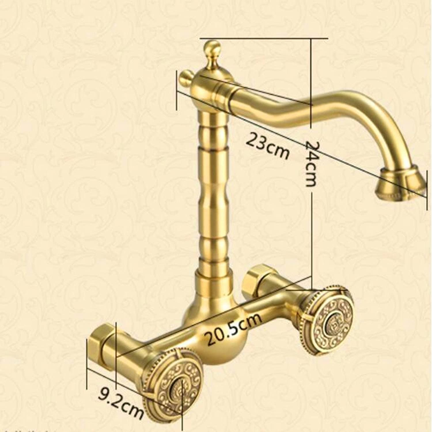 QYJ European-Style Kitchen Hot And Cold Faucets Into The Wall Antique Kitchen Faucets Can Be redated
