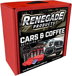 Renegade Products Cars & Coffee Car Enthusiast Complete Automotive Detailing Kit