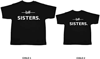 YaYa cafe Printed BFF Best Friends Forever Kids Siblings T-Shirts for Sisters