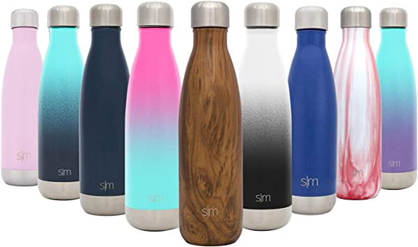 Simple Modern Wave Water Bottle Vacuum Insulated Double Wall 18 8 Stainless Steel