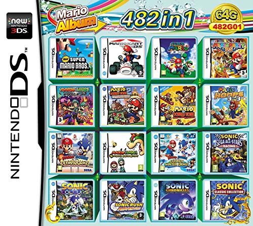 482 Spiele in 1 NDS Game Card Super Combo Cartridge für DS NDS NDSL NDSi 3DS 2DS XL NEW