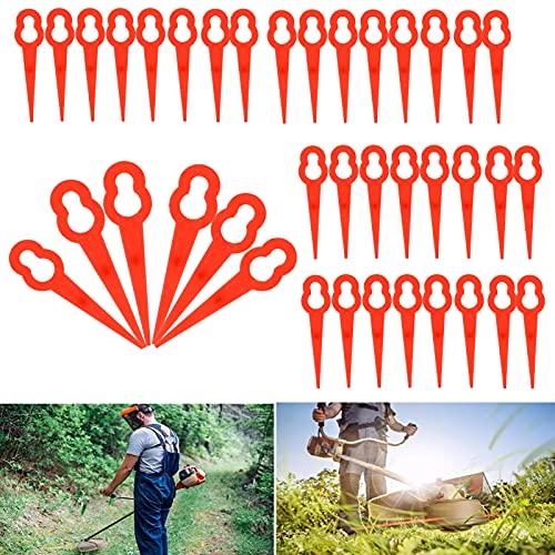 Lame in Plastica di Ricambio,100 Pezzi Lame per Tagliaerba Plastic di Ricambio per tagliaerba in plastica,Lame di Ricambio per decespugliatore e tagliaerba a Batteria