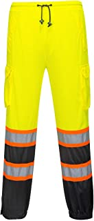 Portwest Two-Tone Mesh Over Pants Hi Visibility Cargo Work Trousers Safety Wear ANSI E