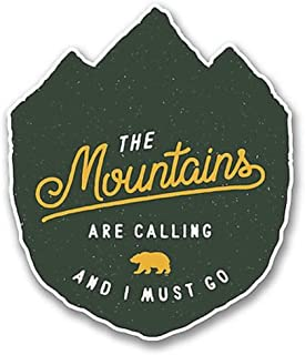 NI3802-Pack The Mountains Are Calling Sticker/Decal | Premium Quality Vinyl Sticker | 4-Inches by 3.5-Inches