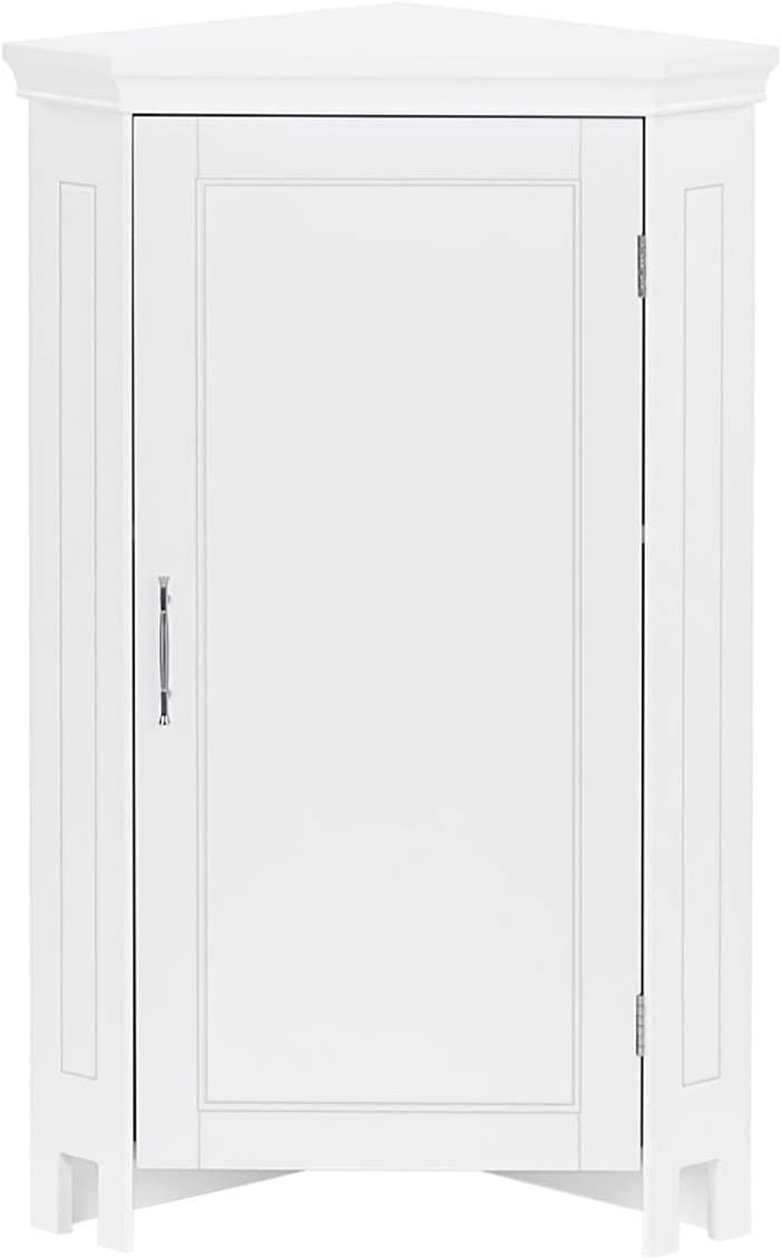 RiverRidge Popular products Somerset Single Door Corner Cabinet In a popularity White Floor