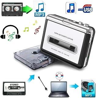 USB Cassette-to-MP3 Converter Capture, SolidPin Audio Super USB Portable Cassette/ Tape to PC MP3 Switcher Converter with Headphone