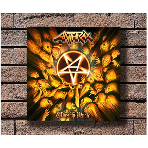 chtshjdtb Anthrax Music Rapper Album Cover Wall Art Poster Pittura Stampa Soggiorno Decorazione Domestica -24X24 Pollici Nessuna Cornice 1 Pz