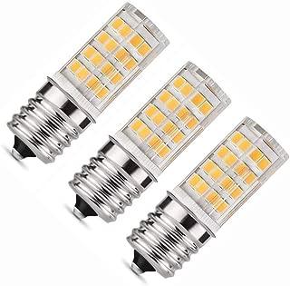 E17 LED Bulb 3.5 Watt - Microwave Oven Light 3000K Warm White, 350lm,Pack of 3 (Warm White)