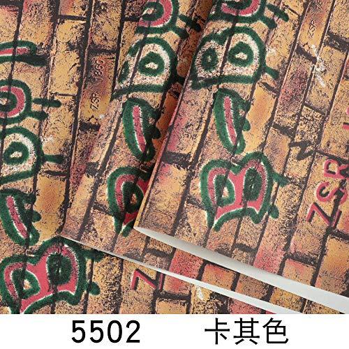 ACCEY Creativo Alfabeto inglés Personalidad Fondo de pantalla Resumen Característica Marca de marea Bar Café Hip Hop Graffiti Fondo de pantalla Milk Tea Shop-5502 Khaki_Wallpaper Only