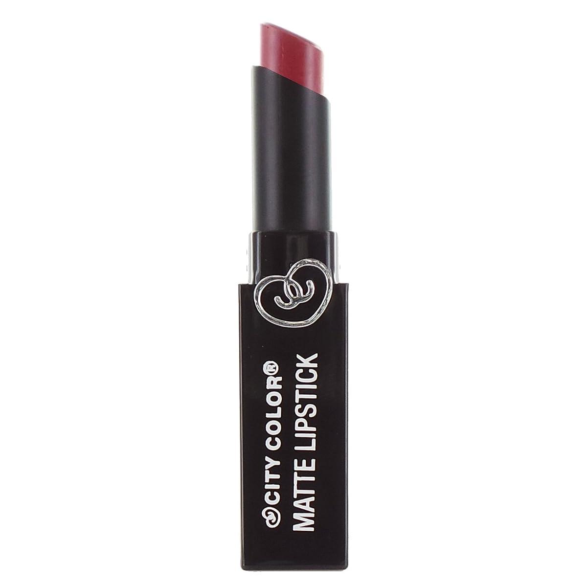 引き受ける犯罪アンティーク(3 Pack) CITY COLOR Matte Lipstick L0050 - Romantic Rose (並行輸入品)