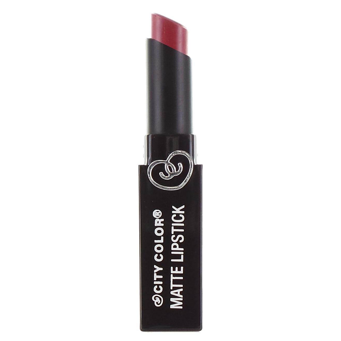 メールを書くカート言及する(3 Pack) CITY COLOR Matte Lipstick L0050 - Romantic Rose (並行輸入品)