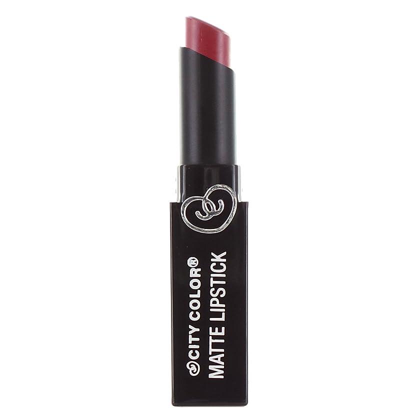 徹底駅金属(3 Pack) CITY COLOR Matte Lipstick L0050 - Romantic Rose (並行輸入品)