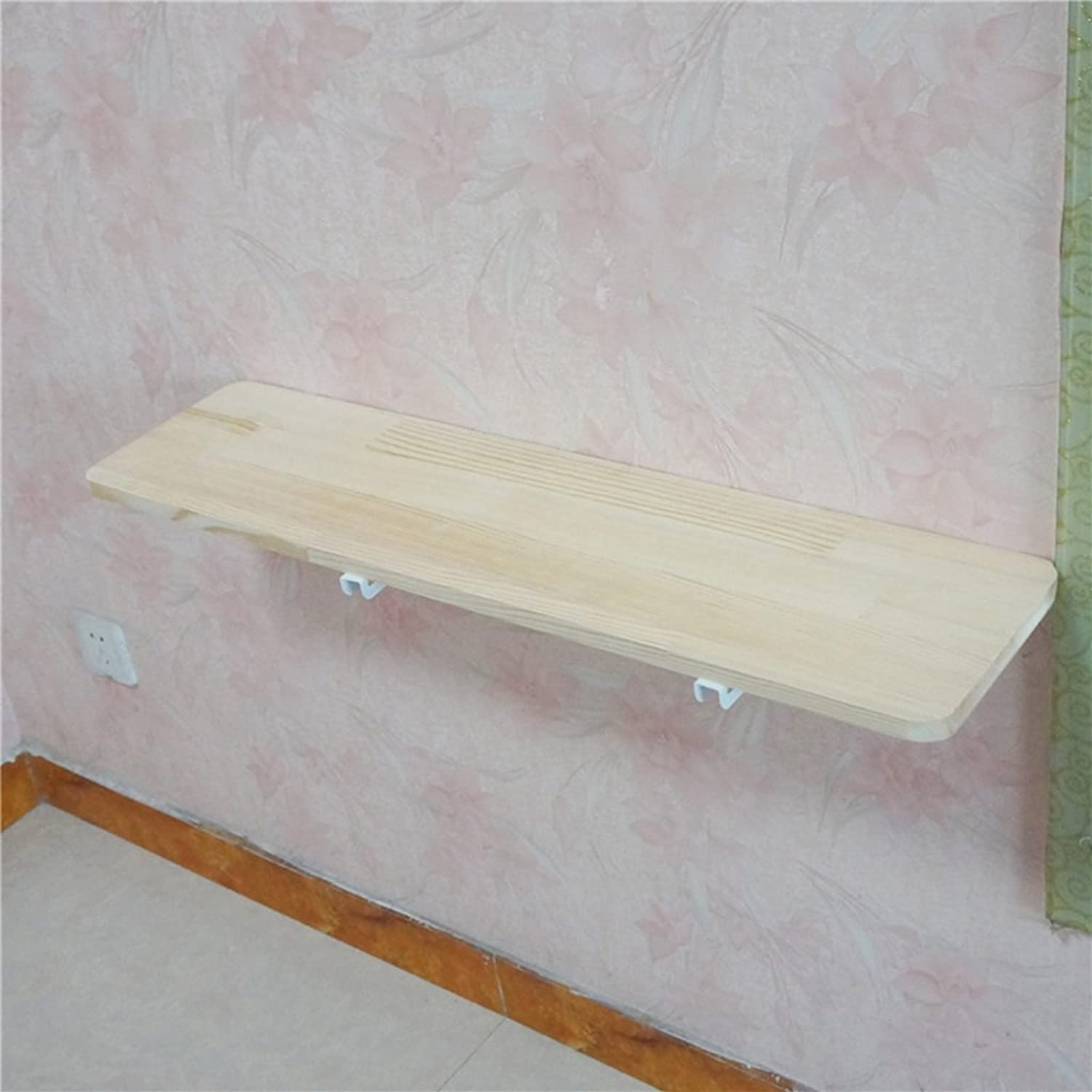 Solid Wood Folding Dining Table Household Wall-Mounted Table Simple Bedroom Side Table Size Optional (Size   60cm20cm)