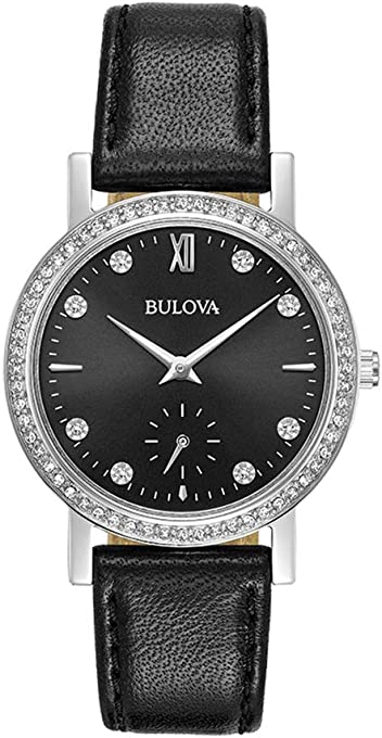 Bulova Women's Quartz Watch Leather Strap analog Display and Leather Strap, 96L246