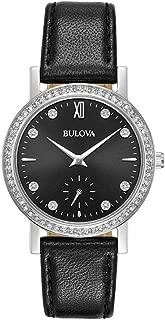 Bulova Women's Quartz Watch Leather Strap analog Display and Leather Strap, 96L246