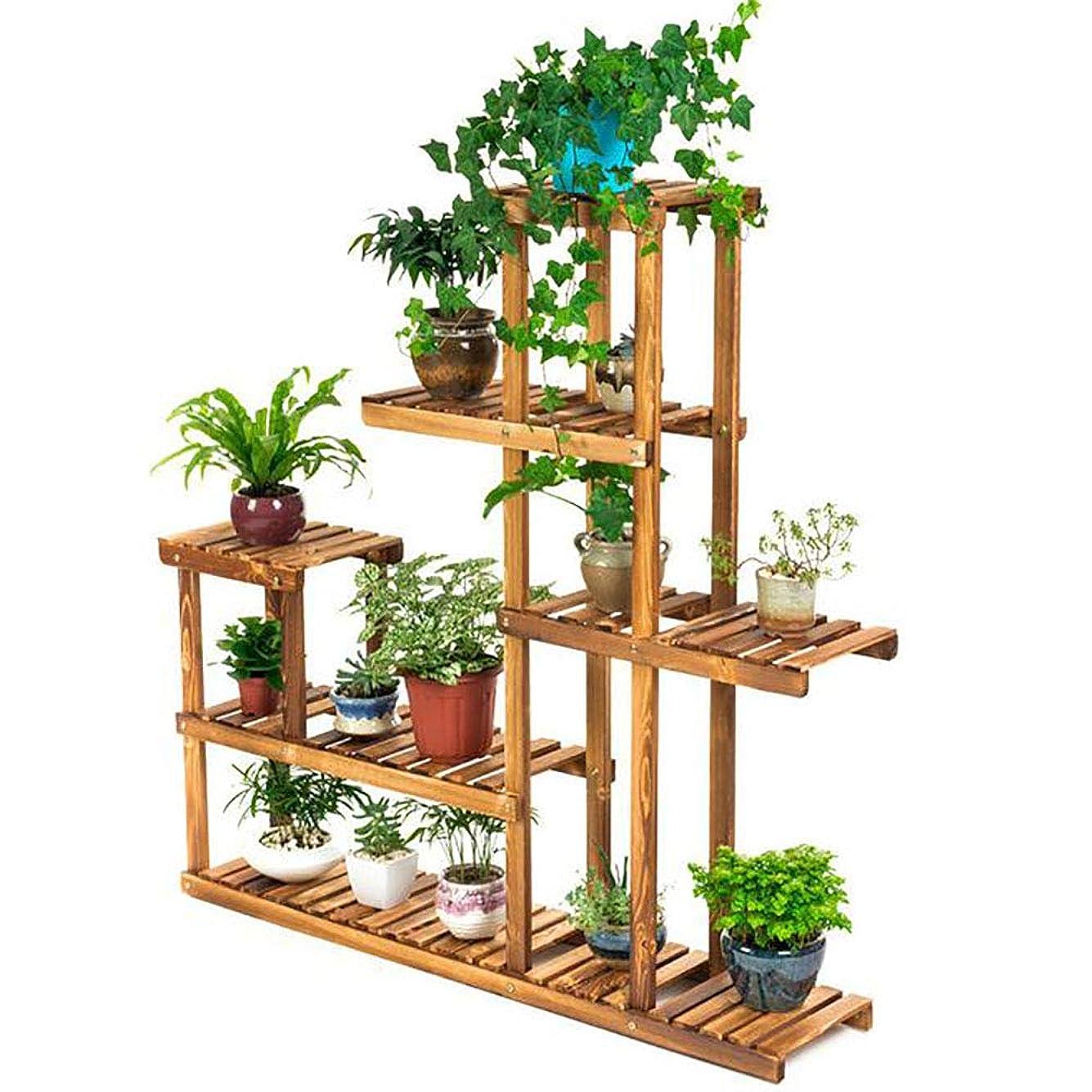 くちばしスクリーチテクニカルフロアフラワースタンド 植物スタンド 木製収納棚 屋外用シェルフ 家の装飾 124 * 26 * 124CM
