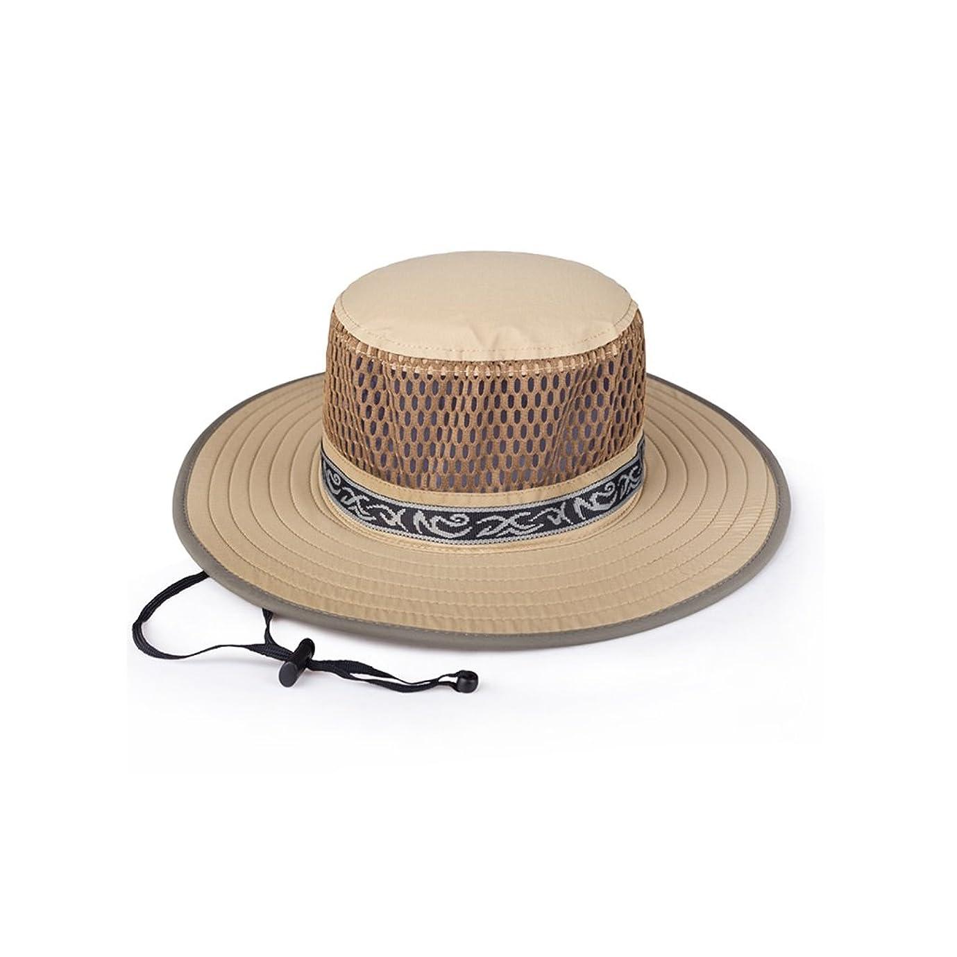 満たす以来カジュアル日曜日の帽子の男性の夏の屋外の上昇の乗車用バイクの紫外線保護網のバイザーの帽子はあごバンドで
