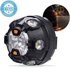 Automotive Emergency Strobe Light, Bawoo Waterproof Vehicle Emergency Light for Accident, Car Roadside Flashing Flares Safety Warning LED White/Amber Light with Magnetic Mount for Boat, SUV, Trunk