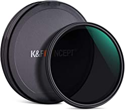K&F Concept 77mm ND2-ND512 Adjustable 8-Stop Variable Neutral Density Filter HD 18 Layer with Camera Lens Cloth