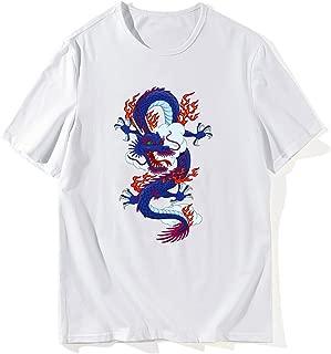 HLZSLt Chinese Dragon T Shirt for Mens