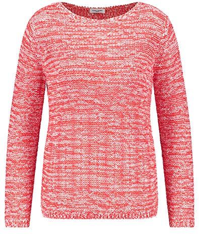 Preisvergleich Produktbild Gerry Weber Damen Pullover Mit Bicoloroptik Figurumspielend Rot / Orange Gemustert 48