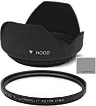 77mm Digital Tulip Flower Lens Hood and 77mm UV Filter for Nikon CoolPix P1000 Digital Camera