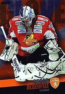 (CI) Oscar Alsenfelt Hockey Card 2011-12 Swedish Elitset Glove Save 10 Oscar Alsenfelt