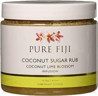 Pure Fiji Sugar Rub, Coconut Lime Blossom, 15.5 Ounce