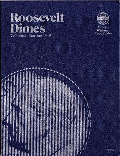 1946-DATE 1977 ROOSEVELT DIMES USED Whitman No 9029 TRIFOLD COIN; ALBUM, BINDER, BOARD, BOOK, CARD, COLLECTION, FOLDER…