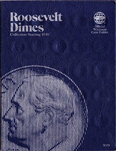 1946-DATE-1977-ROOSEVELT-DIMES-USED-Whitman-No-9029-TRIFOLD-COIN-ALBUM-BINDER-BOARD-BOOK-CARD-COLLECTION-FOLDER-HOLDER-PAGE-PORTFOLIO-PUBLICATION-SET-VOLUME