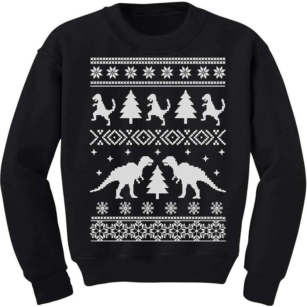 Tstars Ugly Christmas Ugly T-rex Dinosaur Trex Toddler//Kids Sweatshirt